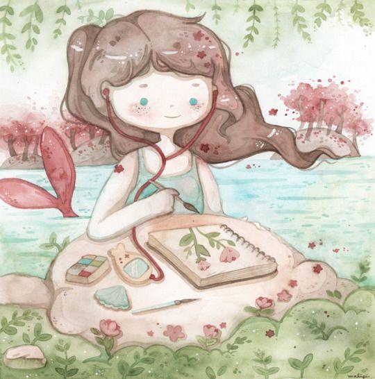 artist mermaid by malipi