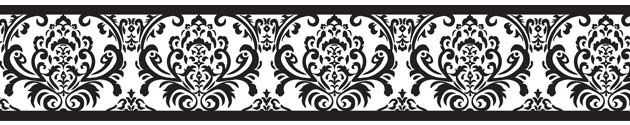 Black and White Damask Wallpaper Border Isabella by Sweet Jojo Designs