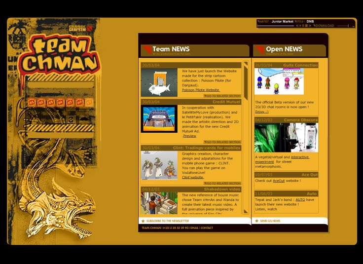Team Chman website in 2004
