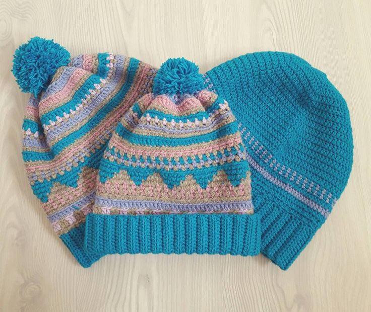 matching hats for a happy family 😍#matchinghats #crochethat