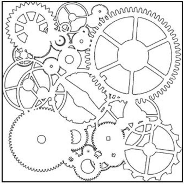 Weiteres - 1 Schablone zum Schablonieren/Stencil Zahnrad - ein Designerstück von pasico bei DaWanda
