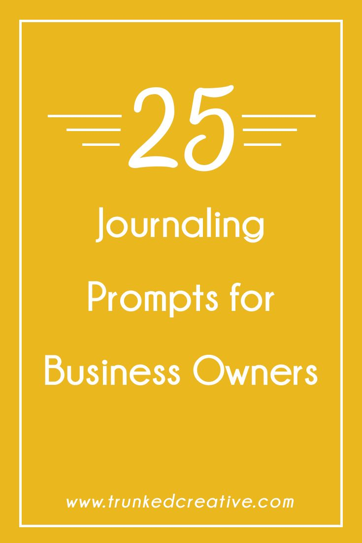 Feel like you're always running out of ideas, or can never think of the perfect thing to say (or the perfect time to say it)? Try writing in a business journal each week. Use these 25 ideas to get you started...