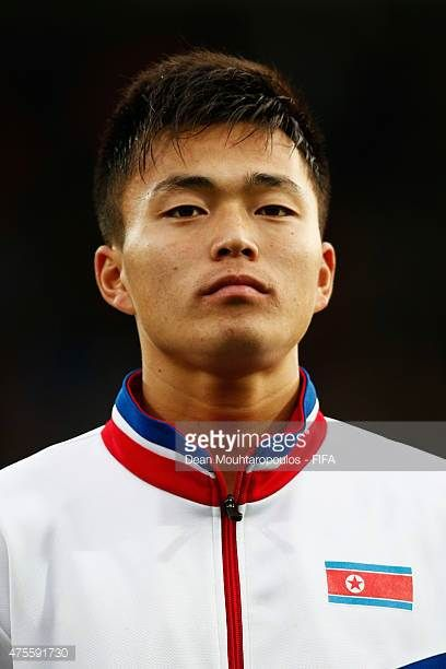 Choe Ju Song of DPR Korea stands for the national anthem prior to the FIFA U20 World Cup New Zealand 2015 Group E match between Korea DPR and Hungary...