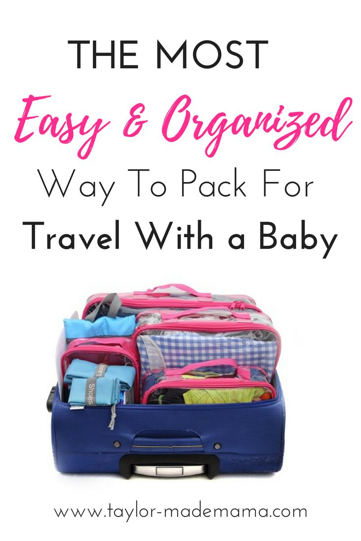 These Packing Cubes make packing for for travel with a baby, toddler or child EASY and organized. Keep yourself and your kiddos organized on vacation with these packing cubes!