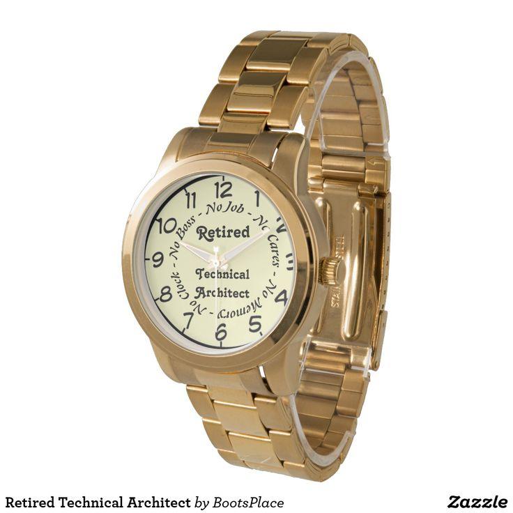 Retired Technical Architect Wristwatch