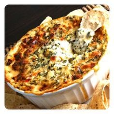 Tailgate Faves: Cheesy Spinach Artichoke Dip   Revelry House  http://revelryhouse.tumblr.com/post/34715929313/tailgate-faves-cheesy-spinach-artichoke-dip  @RevelryHouse #JoinTheParty