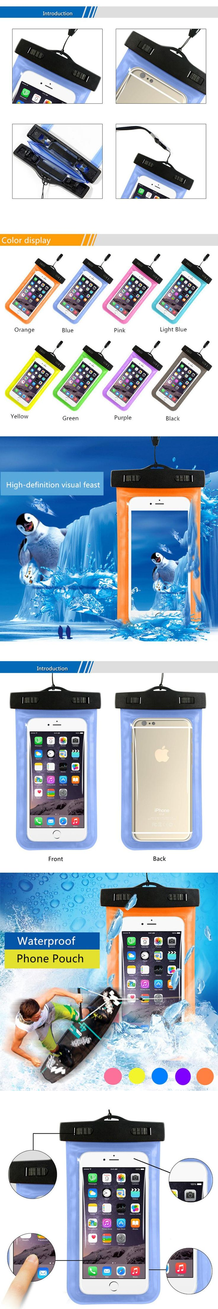 Universal Phone Bags Pouch with Strap Waterproof Cases For iPhone 6 5S 6S 7 Plus Case Samsung Galaxy S6 S7 Edge S8 Plus Cover