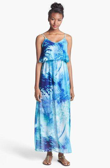Soprano Ruffle Maxi Dress (Juniors) available at #Nordstrom