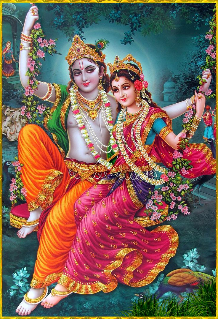 "✨ RADHA KRISHNA ✨Artist: Yogendra Rastogi""May Lord Krishna along with His beloved Radha bring about prosperity and auspiciousness at all times. In the same way may the devotee of Krishna, who is able to destroy all obstacles, always bring about auspiciousness.""~Vishnu Yamala Samhita"