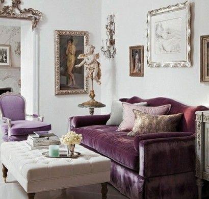 samtsofa-sessel-weiss-tisch-glänzend-barock-luxus | Lila ...