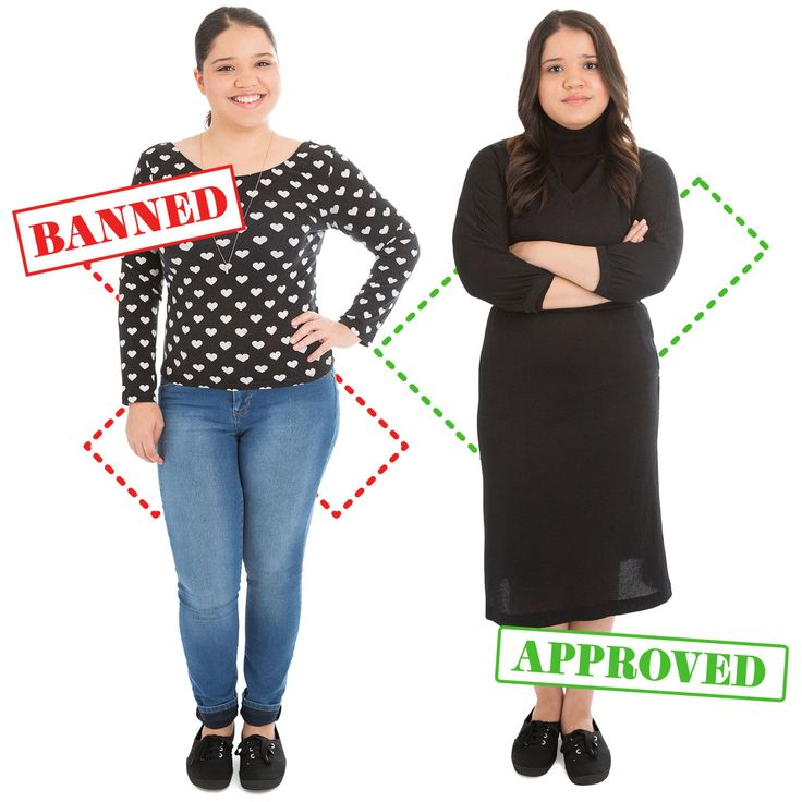 10 Banned Vs. Approved Outfits That Show How Ridiculous School Dress Codes Really Are   - Seventeen.com
