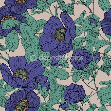Бесшовный узор элегантность с цветы розы — стоковая иллюстрация #62015917