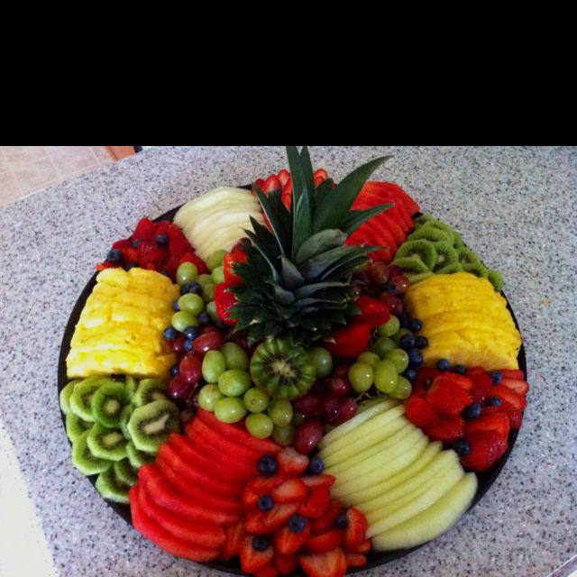 nice fruit tray arrangement