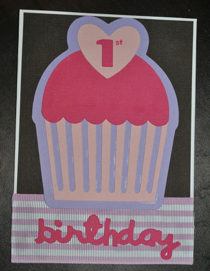 First Birthday Card - girl