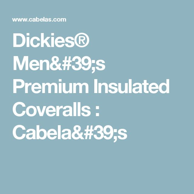Dickies® Men's Premium Insulated Coveralls : Cabela's