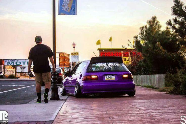Purple Honda civic hatch EG my favorite :)