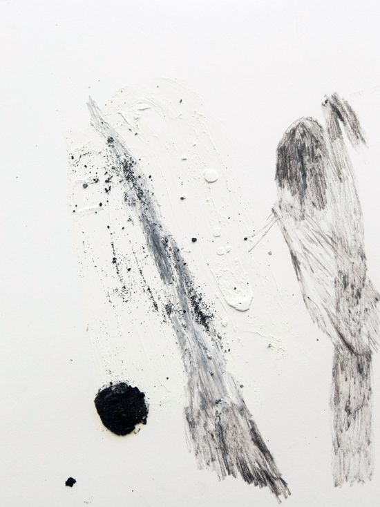 Lucy Jane Turpin, 'Untitled 19' (2016), Oil bar, charcoal and Icelandic black sand on Langton, 30.8 x 23cm