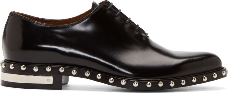 Givenchy - Black Studded Leather Shoes