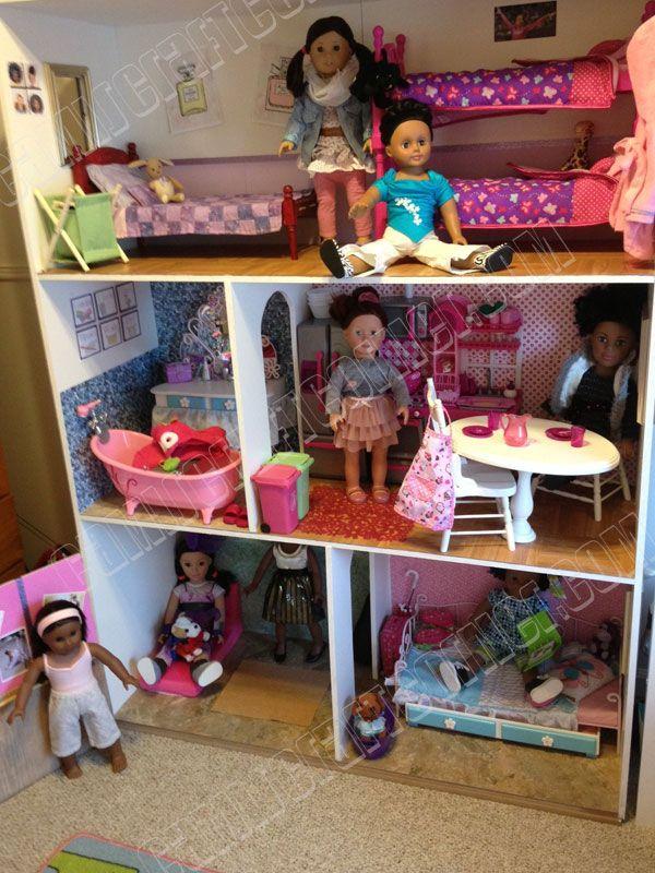 American Girl Dollhouse DIY for $150. 18