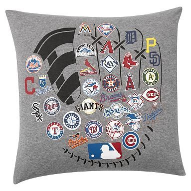 Mlb Licensed Logo Pillow Cover Baseball Bed Sports