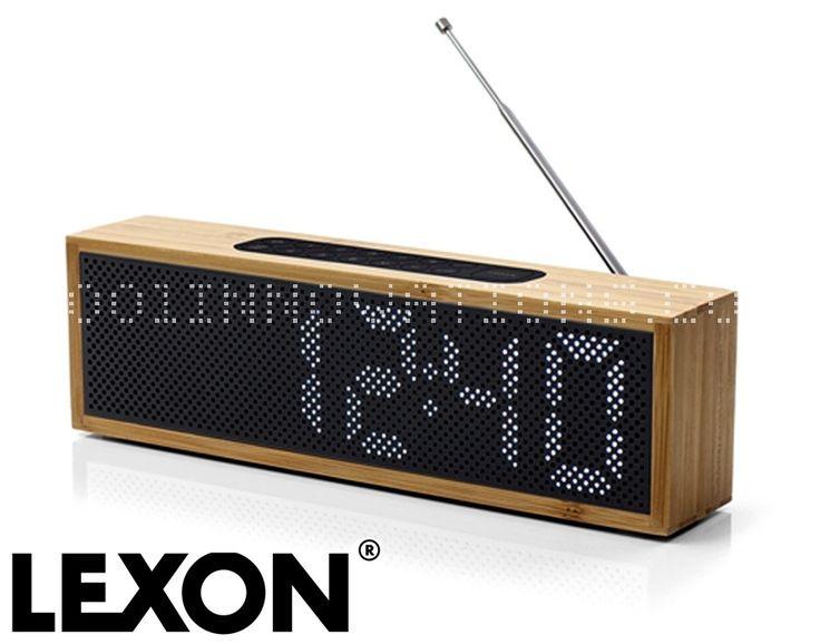 Radio LCD LED - Radio réveil LED Titanium Lexon, Bambou / noir