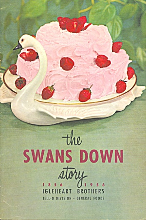 1956 Swans Down Centennial Cookbook (Cook Books - Post 1950) love the swan!