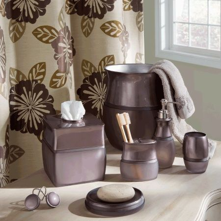 Croscill Scarlette Bathroom Collection   Each piece features both satin  gloss finish and frosted surfaces for. 17 Best images about Bathroom Set Accessories on Pinterest