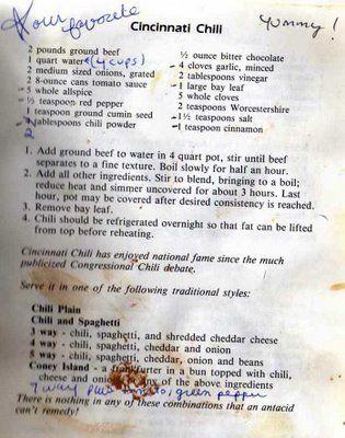 akawest: Cincinnati Chili and Herring Salad