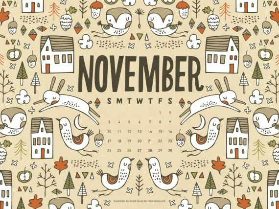 November Calendar_1024x768, The Ink Nest, Nicole LaRue