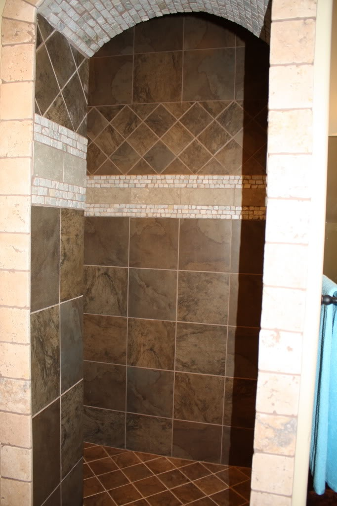 walk in shower  L shape for privacy no glass door to clean 83 best WALK IN Showers images on Pinterest Bathroom Bathrooms