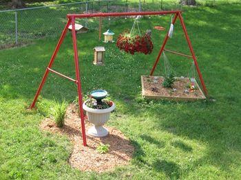 Repurpose Swing Set Detour Through The Garden Outdoor