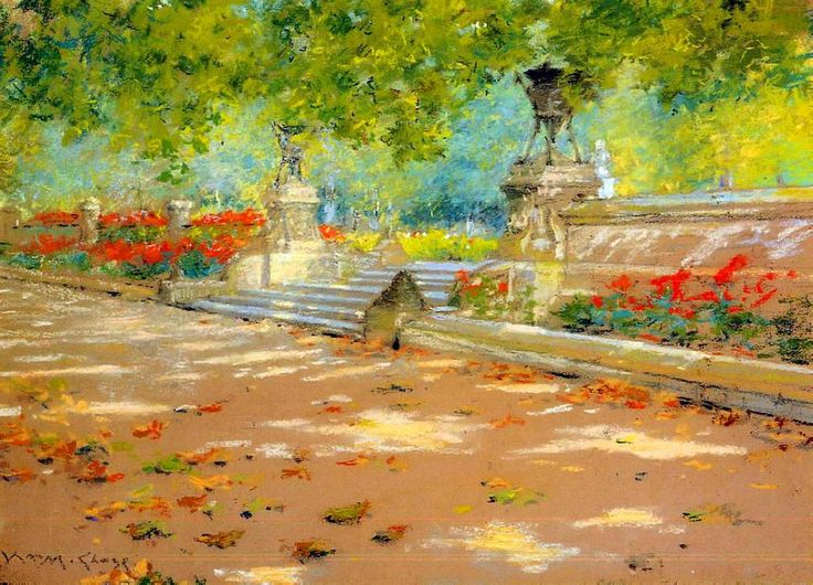 William Merritt Chase. Terrace, Prospect Park  1886