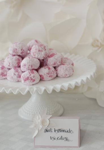 Pink baby or bridal shower ~ pink lemonade teacakes