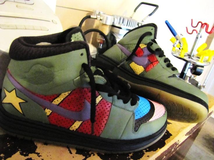 Items similar to Hand Painted Air Jordan