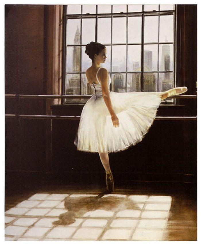 Canvas - Ballet Dancer at the Barre