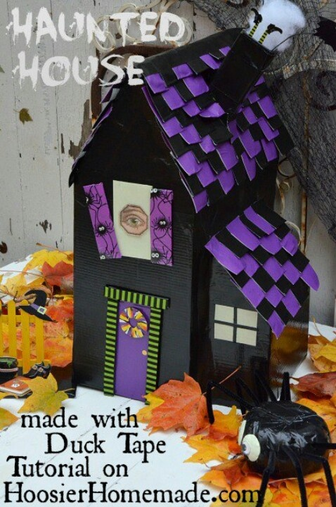 81 best duck tape creations images on pinterest duct for How to make a cardboard haunted house