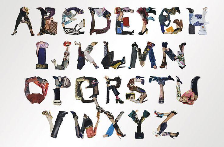 Fashion Type - stylized fashion fonts by yvette yang #type #typography #fashion #design #inspiration
