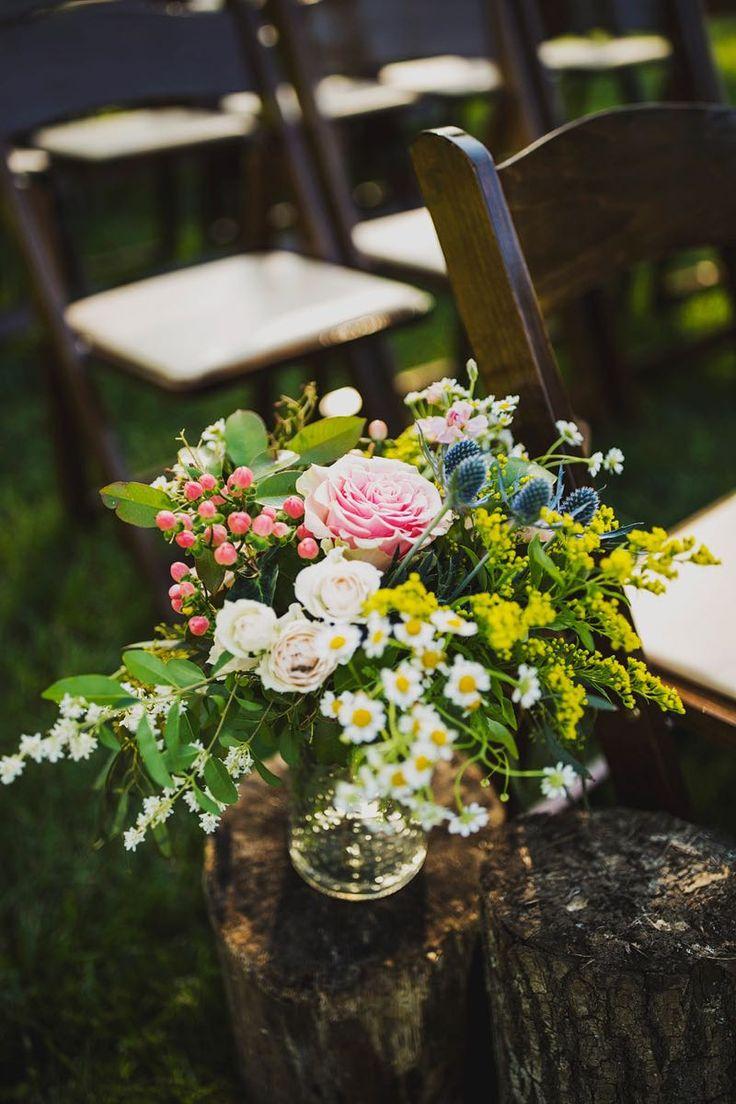 Colorful artistic pew markers #cedarwoodweddings Alli+Matt :: 05.15.2016 | Cedarwood Weddings