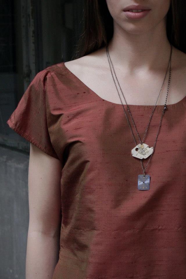 Rikov  necklace  recycled jewelry