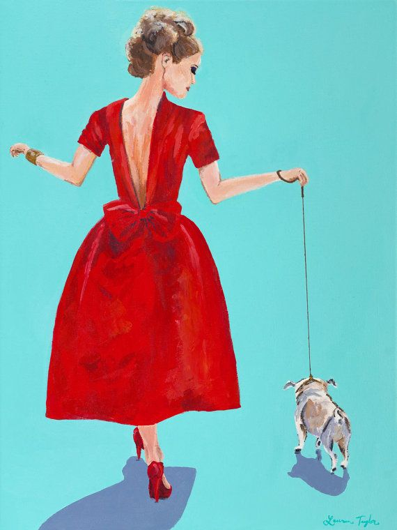The Red Dress Giclee Print
