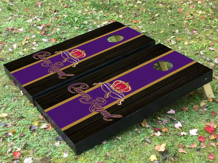 Crown Royal Whiskey Traditional Stripes Cornhole Boards