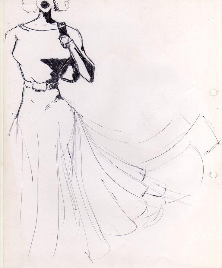 #sketching vestido. Lapiz BIc