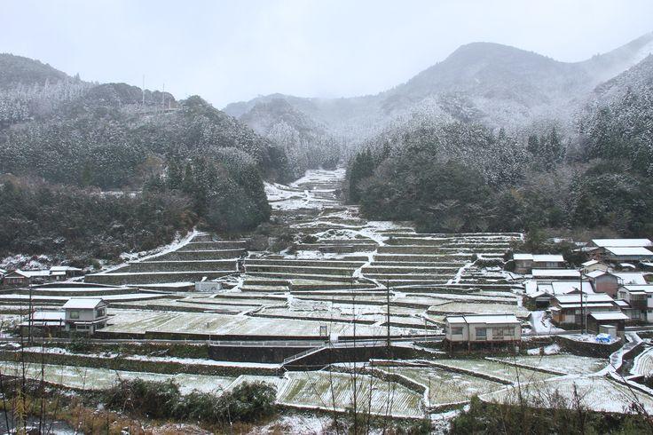 2014.12撮影 鬼の口棚田雪景色