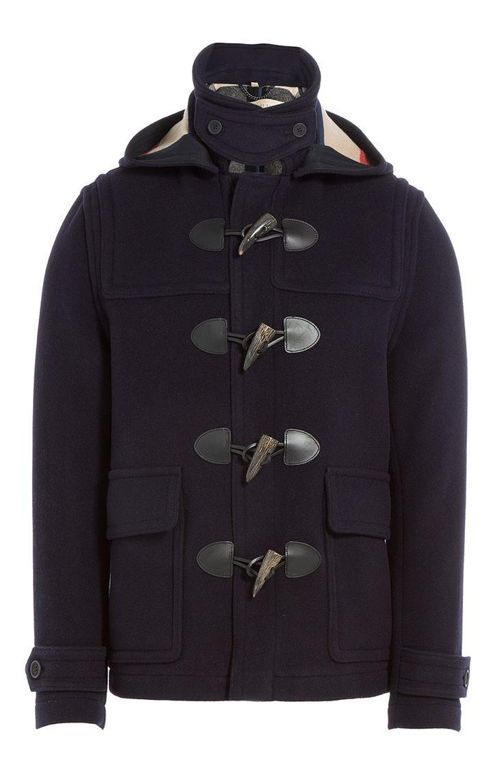 Duffel-coat en laine m�lang�e detail 0