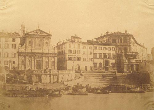 Porto di Ripetta, Rome, Italy 1852 (ca) Salt print, from calotype negative