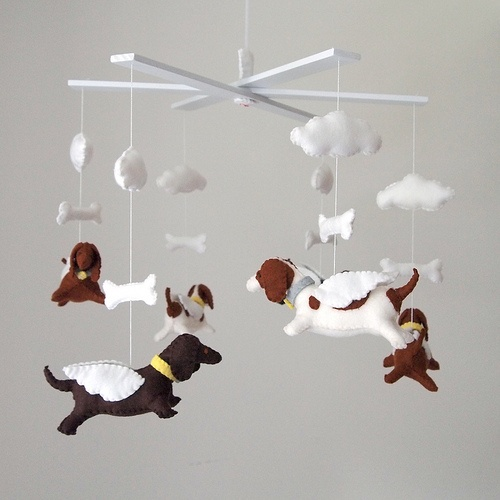 wiener dog mobile for my little bothers future kids.