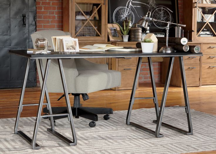 Brooklyn Collection Inspired Home Office Area Featuring The Harding Desk Chair And Tompkins