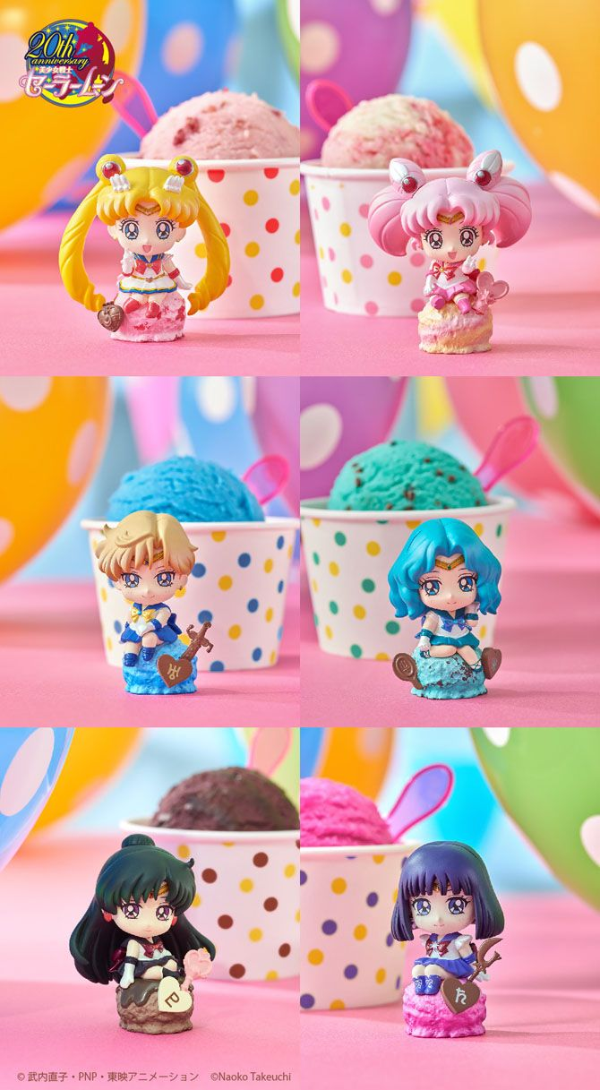 """sailor moon"" ""sailor moon figures"" ""sailor moon toys"" ""sailor moon merchandise"" ""petit chara"" figure anime japan shop ""ice cream"" megahouse"