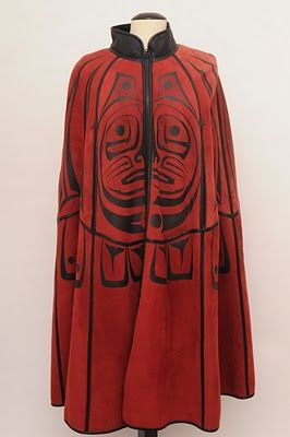 Betty David was a native American (Spokane tribe) designer who passed away in 2008. They're selling off the very last of her inventory now, and I think this is the prize piece!