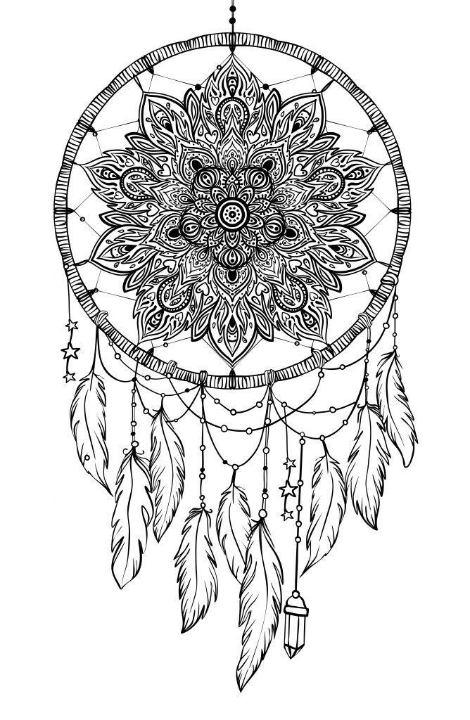 Mandala Atrapasueno Para Colorear Atrapasuenos Mandala Diseno De Tatuaje Mandala Atrapasuenos